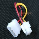 PC Power Cable Connector Converter for IDE 4 Pin to 6 Pin ATX