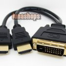 Dual 2 HDMI Male to DVI DVI-D 24+1 Male Splitter Cable Adapter Converter