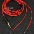 OFC Red Hifi Semi finished updated Cable For Handmade custom earphone headset