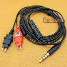 1.2m Handmade Cable + Remote For Sennheiser HD580 HD600 HD650 earphone Headphone