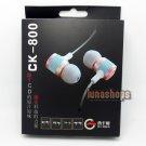 XKDUN CK-800 In-ear Stereo Metal Earphone Headset For 2ds 3ds PSV