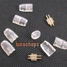 C8 Clear Shell Pins Plug For Ultimate UE tf10 5pro sf3 0.75mm Earphone DIY Cable