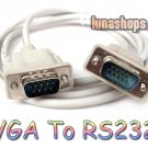 C8 RS232 DB9 9 Pin Male to VGA Video 15 Pin D-SUB Converter Adapter Cable Lead