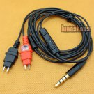 C8 Handmade Cable + Remote For Senheiser HD580 HD600 HD650 earphone Headphone