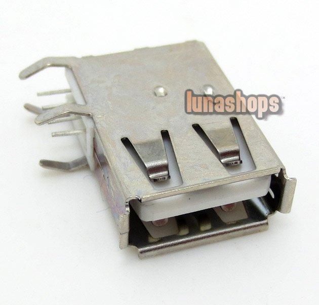 C8 1pcs USB 2.0 Female 90 degree Soldering Adapter For Diy Custom LGZ-A18