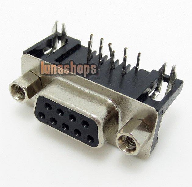 C8 1pcs 9 Pin RS232 Series Female Soldering Adapter For Diy Custom LGZ-R22