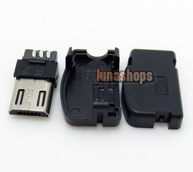 C8 1pcs 90 degree Micro USB-2.0B Soldering Adapter Plug For Diy Custom Handmade