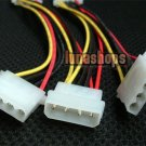C8 Molex Male 1 to 4 Female Power Splitter IDE Y Cable PC Adapter For Video Card