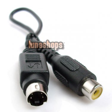 C8 S-Video 4Pin 4 Pin Male to RCA AV Female Adapter Converter Cable