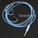 C0 Blue Color 5N OCC + Silver Plated Cable For Sennheiser IE80 earphone headset