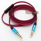 C0 3.5mm Male With Mic Remote Cable For Philips L1 L2 Headphone