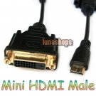 C0 Mini HDMI Male to DVI 24+1 Female Cable Adapter For Camera Mobilephone etc.