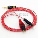 C0 130cm Red Custom 6N OCC Cable For Sennheiser HD518 HD558 HD580 HD600 HD650