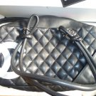 CHANEL Quilted Cambon Bag	Black with white logo