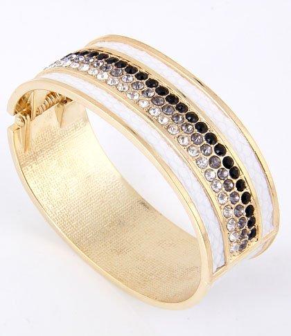 Dazzle Me Rhinestone Fold-over Bracelet