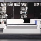 Alaska Modern White Lacquer Bed