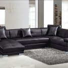 Black Ultra modern sectional sofa