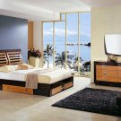 Complete Set: Marina Modern Bedroom Set with storage