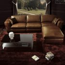 Contemporary Brown Leather living room furniture