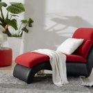 Fabric and Leather Lounge Chair
