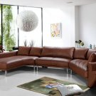 Jupiter Brown Leather Sectional