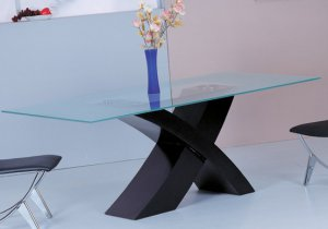 Leo Modern Dining Table with X Shaped Base