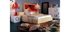 Modern Bed Champaign by Vig furniture Armani