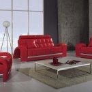 Modern Red Living Room Sofa Set