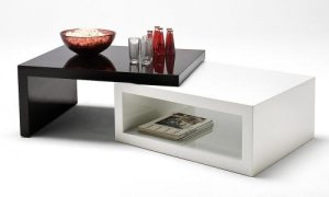 """Modern Two Colors Coffee Table """"Dual"""""""