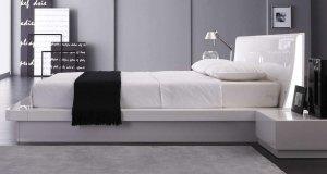 Prestige Modern White Lacquer Bed