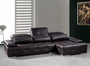 Sorrento Modern Chocolate Brown Sectional Sofa