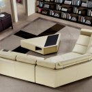 Tera Beige Sectional Sofa with Coffee Table