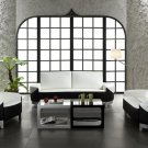 Ultra modern white and black 3 piece sofa set