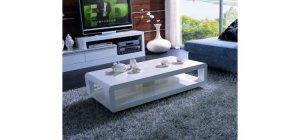 White Modern Serena Coffee Table