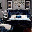 Teal Velvet Fabric Bed AW229-180 VGUNAW229-180 Teal Velvet Fabric Bed AW229-180 VGUNAW229-180