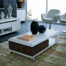 Zino - Modern White and Walnut Coffee Table