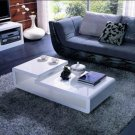 5011C - Modern White Lacquer Coffee Table