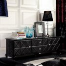Black Crocodile Lacquer Entertainment Center AK538-180