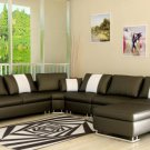 5001 - Modern Bonded Leather Sectional Sofa