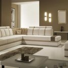 5013 - Modern Bonded Leather Sectional Sofa