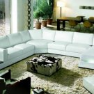 2263 - Modern Bonded Leather Sectional Sofa