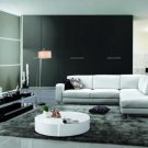 410 - Modern Bonded Leather Sectional Sofa