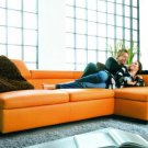 2911 - Modern Bonded Leather Sectional Sofa