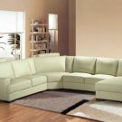 2225 - Modern Bonded Leather Sectional Sofa