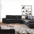 2815 - Modern Bonded Leather Sectional Sofa