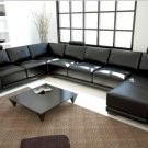 1001 - Modern Bonded Leather Sectional Sofa