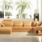 2278 - Modern Bonded Leather Sectional Sofa