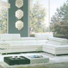 8028 - Modern Bonded Leather Sectional Sofa