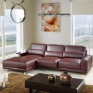 6002B - Modern Bonded Leather Sectional Sofa