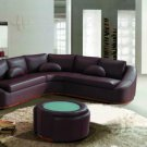 2224B - Modern Bonded Leather Sectional Sofa